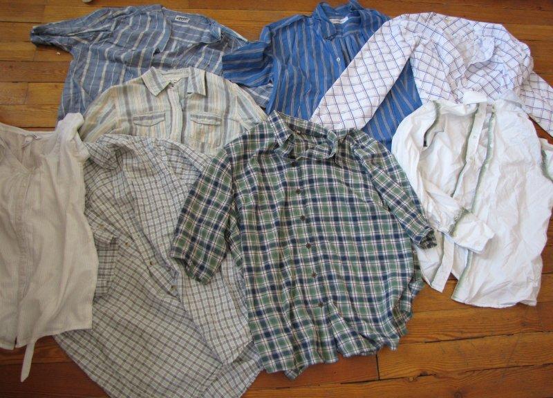 старые мужские рубашки