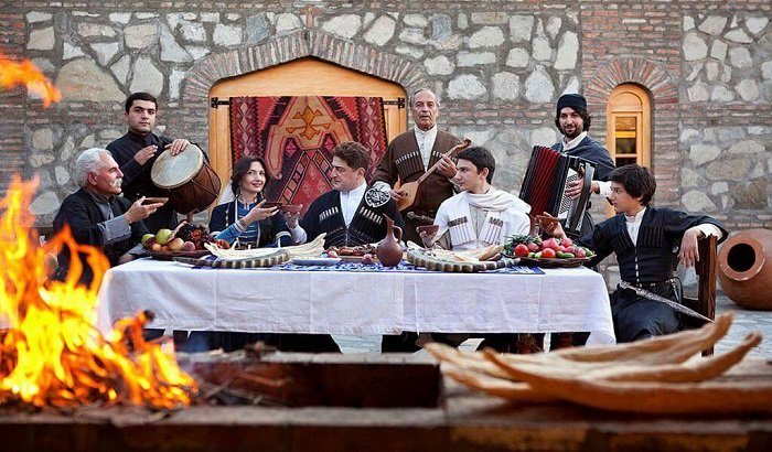 Грузинское застолье, свадьба