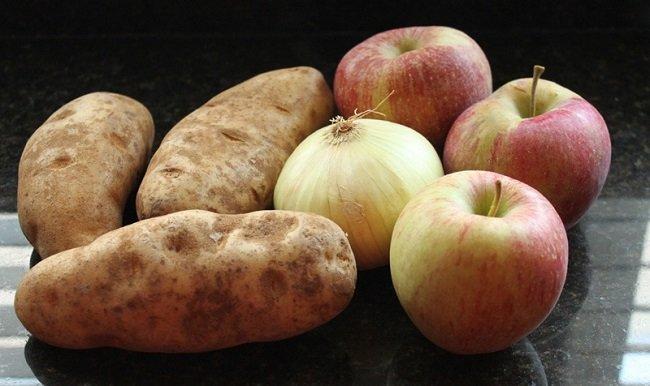 яблоко и картофель фото