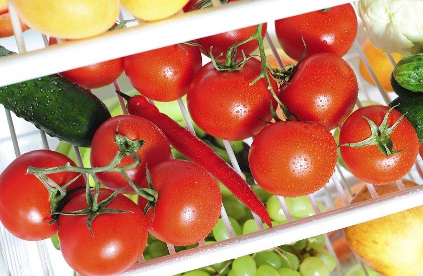 как хранить помидоры в холодильнике