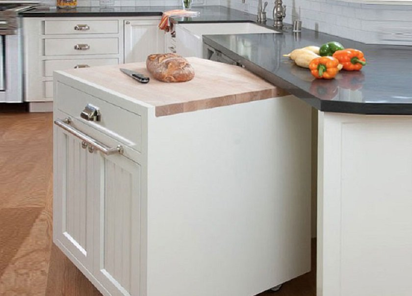 столешница на маленькой кухне