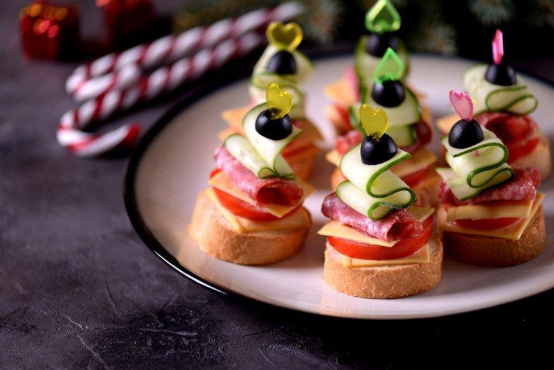 kanapki na zdjęcie nowego roku