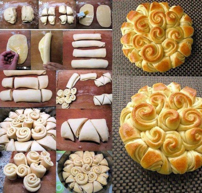 пирог из роз фото