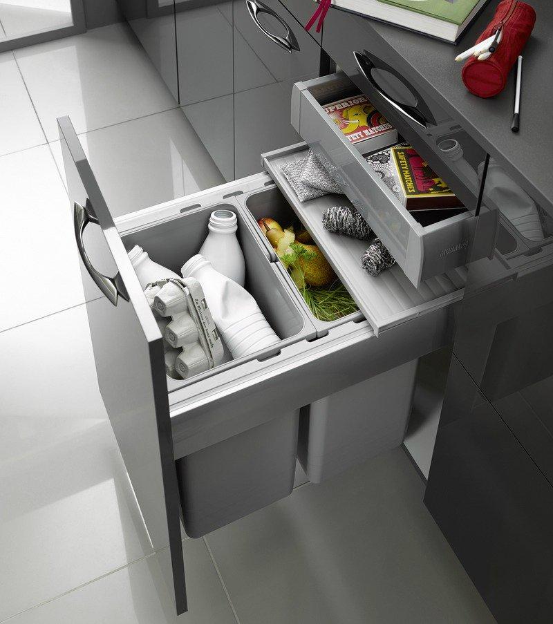 компактное хранение на кухне