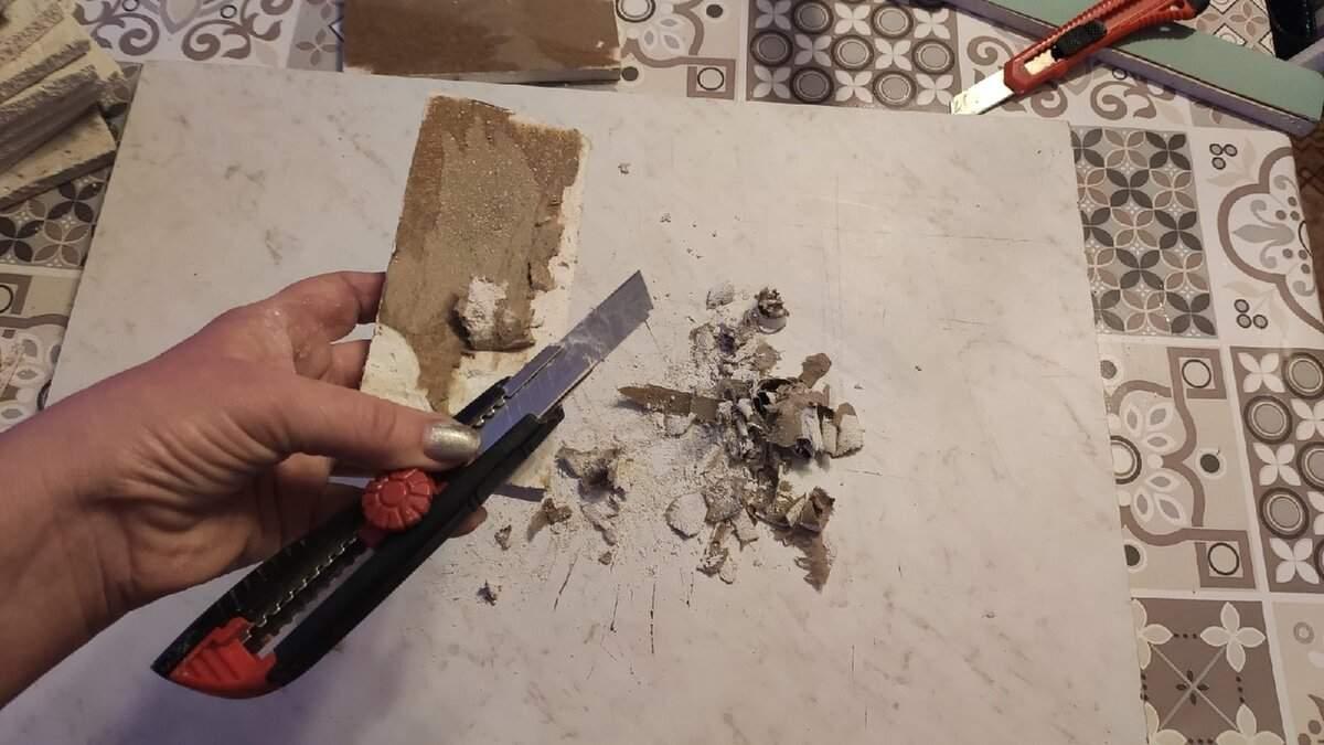 Искусственный кирпич из остатков гипсокартона