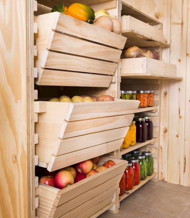 Ящик для хранения овощей в погребе своими руками.