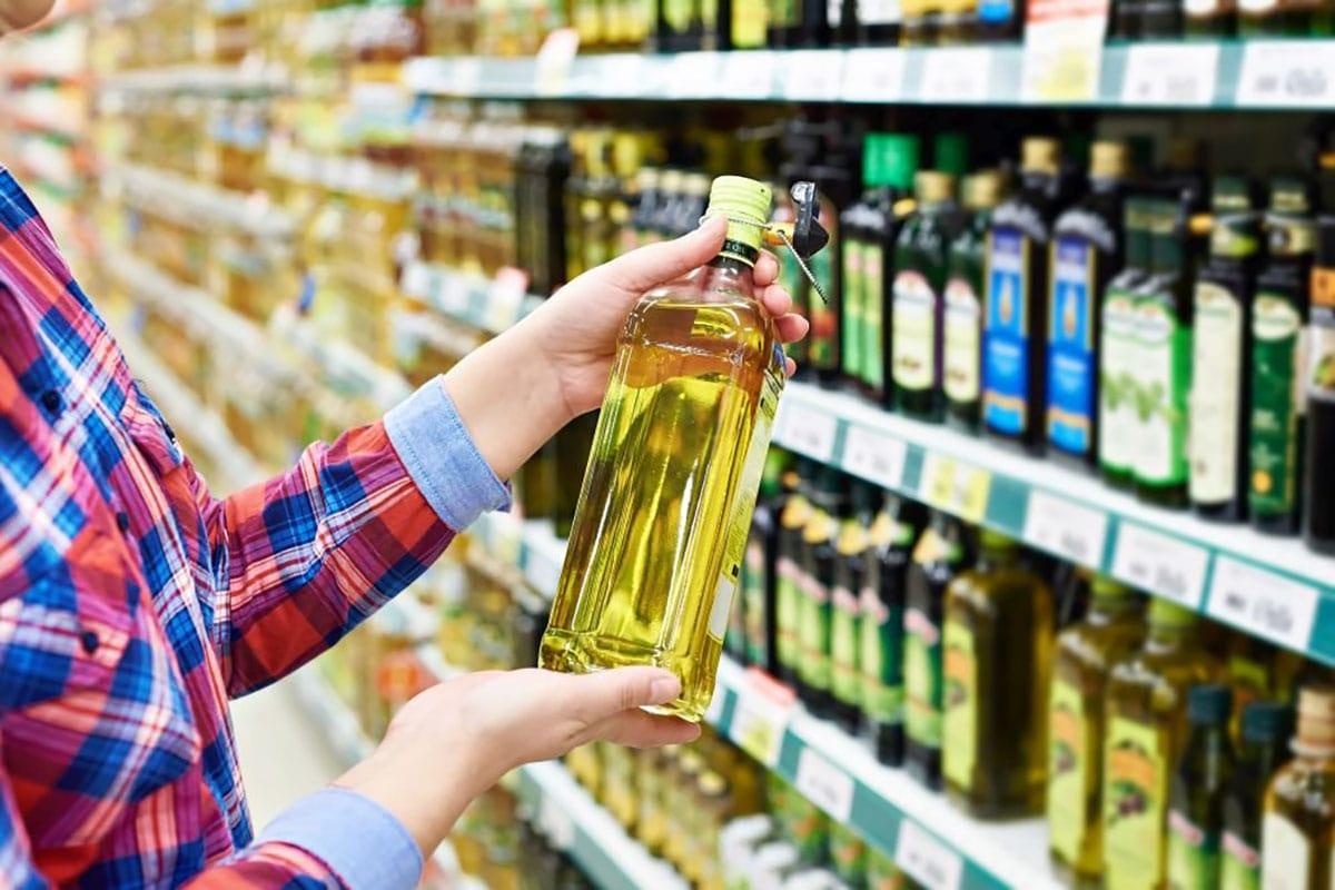 масло в магазине