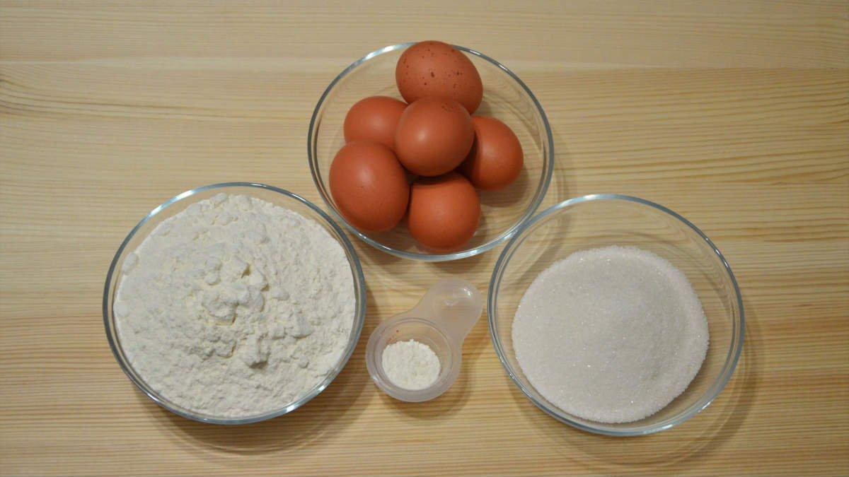 Рецепт простой бисквита для торта