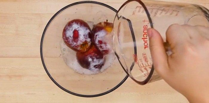 как мыть яблоки фото