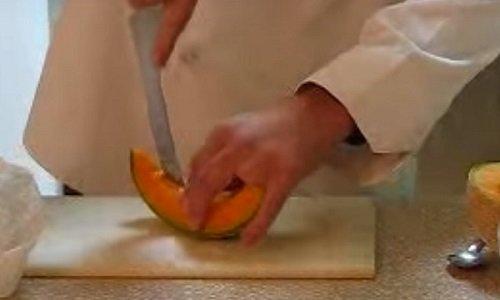 как нарезать дыню
