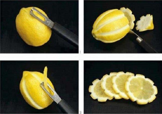 нарезка лимонов фото