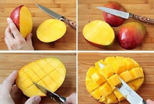 чистка манго фото