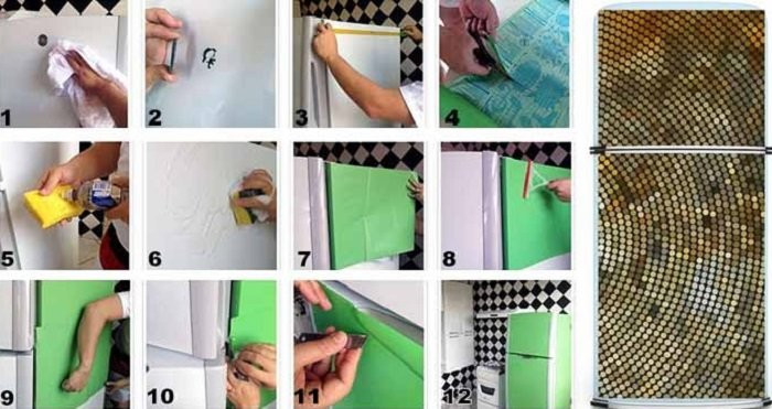 Чем обновить старый холодильник своими руками