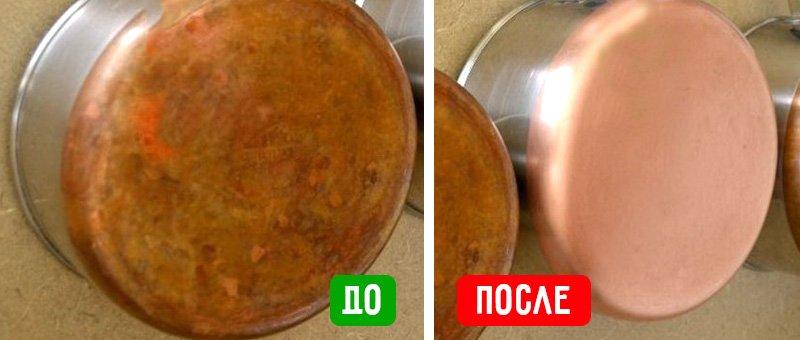медная посуда до и после