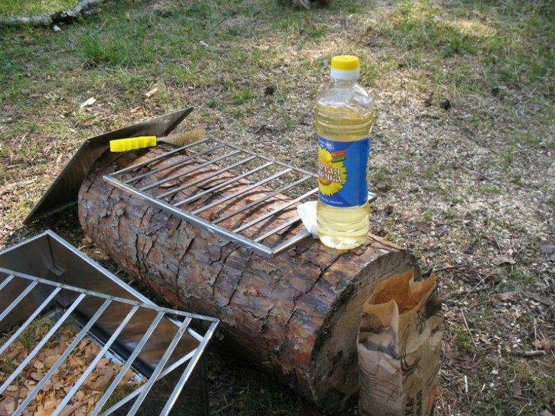 как очистить решетку от гриля
