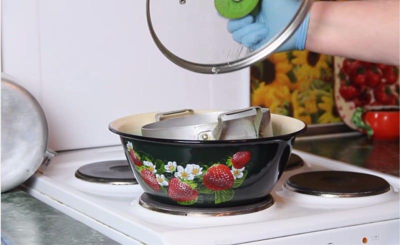очистить посуду содой
