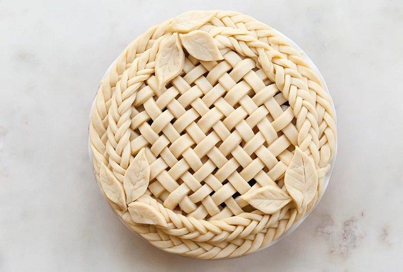 оформление пирога с начинкой