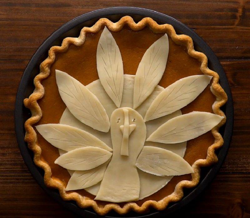украшение пирога из теста