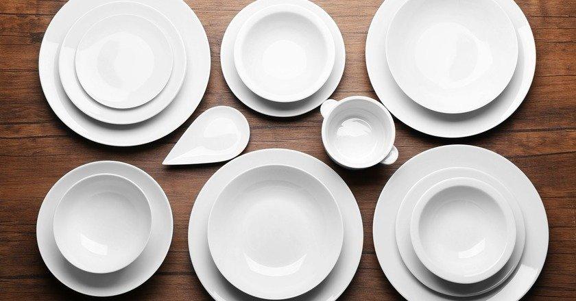 однотонная посуда