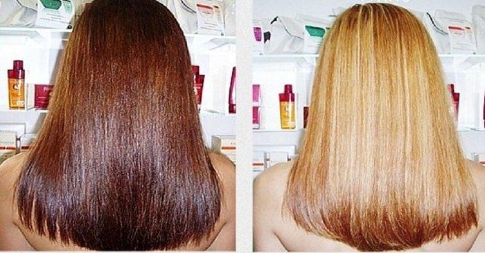 осветлить волосы дома