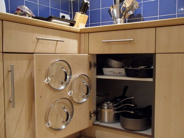 настенные крючки на кухне