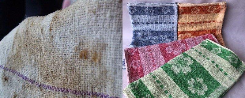 Как отстирать кухонные полотенца от пятен, эффективные домашние методы