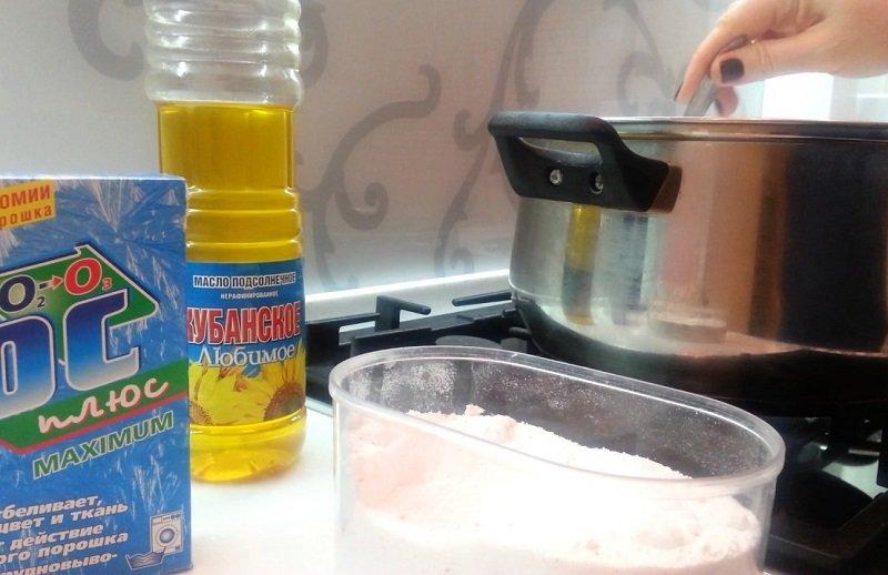 Как отстирать кухонные полотенца от пятен, стирка с растительным маслом