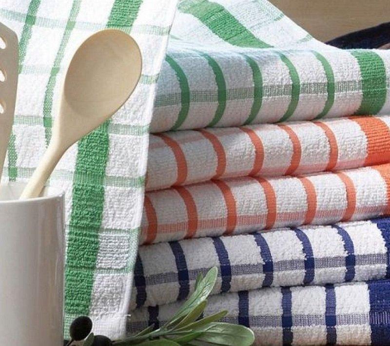 Как отстирать кухонные полотенца от пятен, кипячение