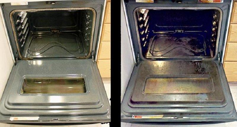 как почистить духовку нашатырным спиртом