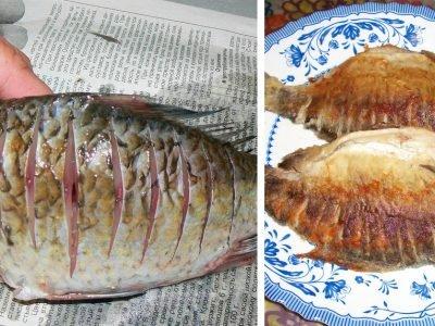 Как пожарить рыбу без костей