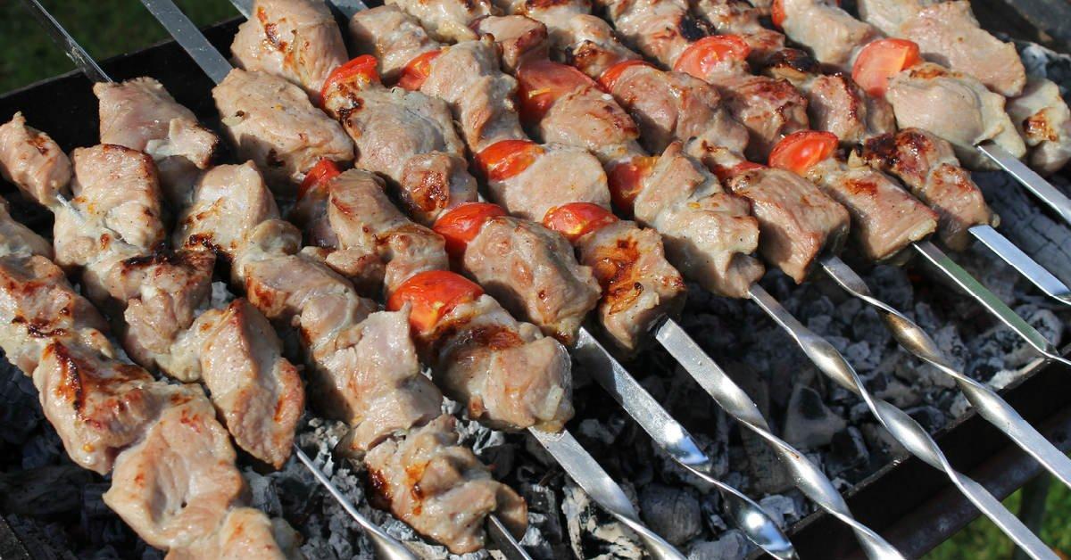 kebab v marináde z paradajok