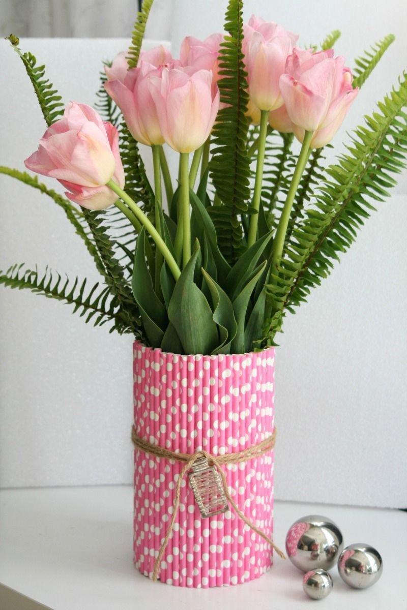 декор стеклянной вазы