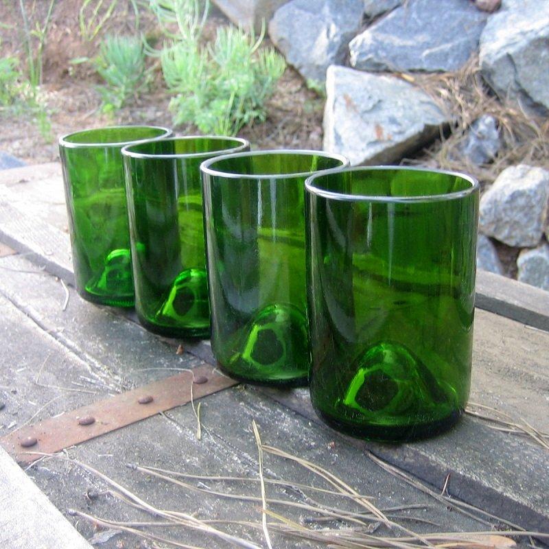 бокалы из винной бутылки