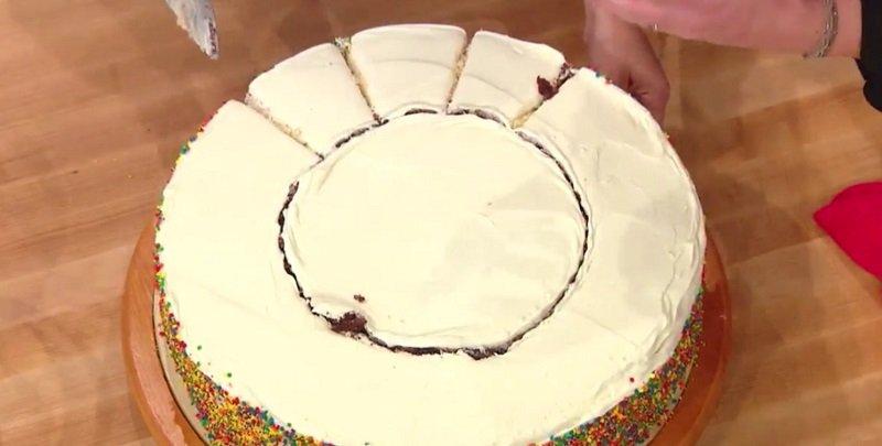 как правильно разрезать торт