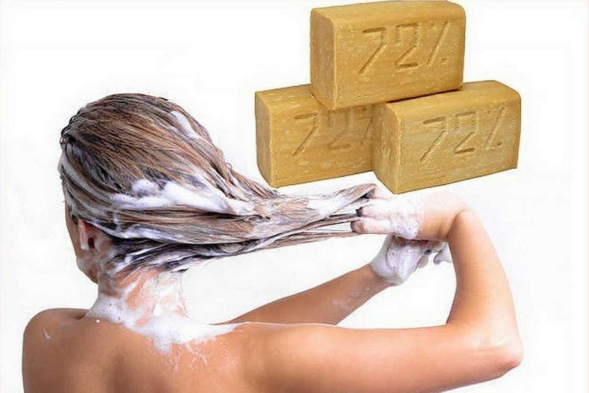 смывание краски хозяйственным мылом