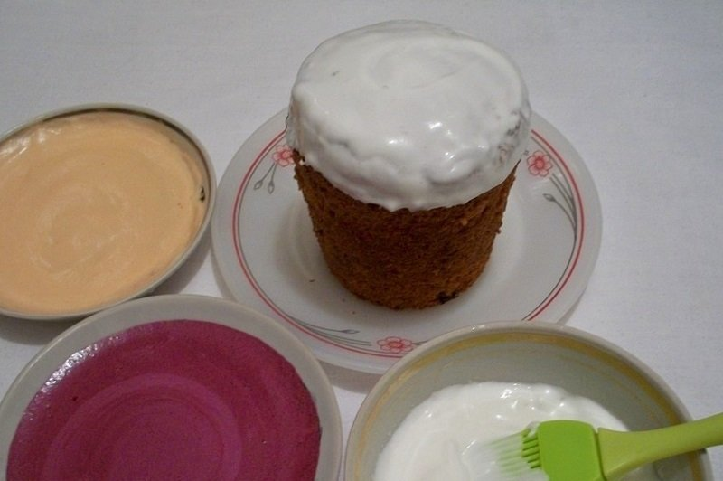 Как сделать цветную глазурь с пищевыми красителями