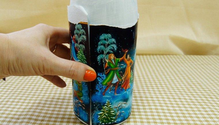 как состыковать шви на бутылке
