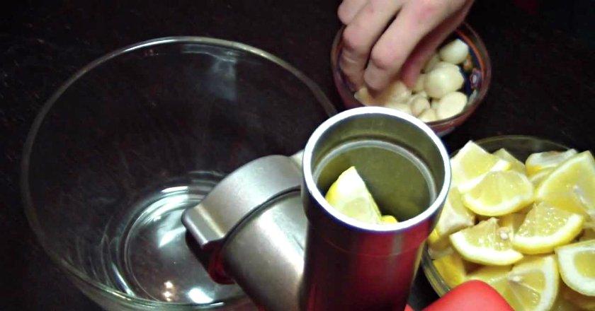 лимоны с мёдом и чесноком