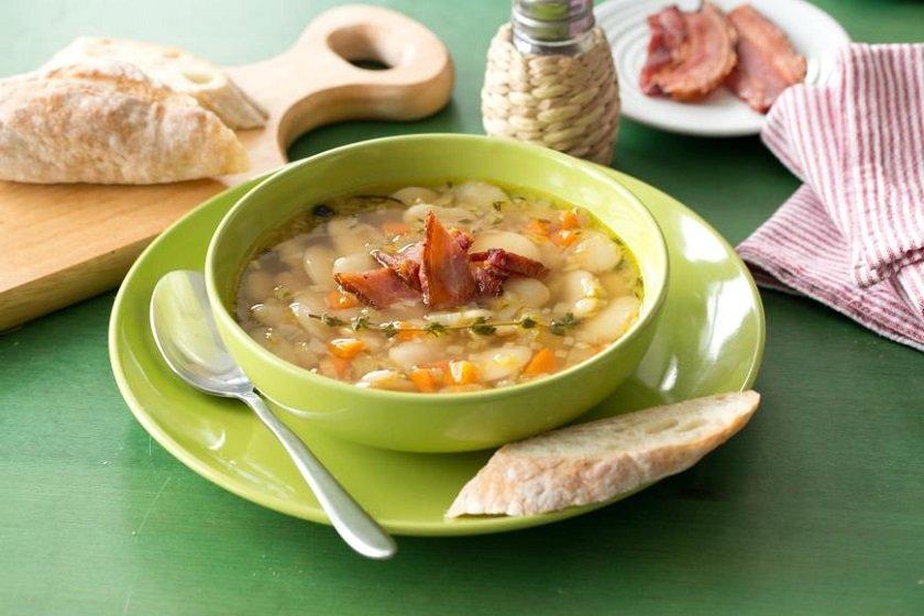 Суп с фасолью вареной