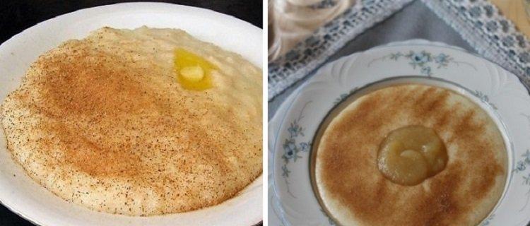 Рецепт манной каши с корицей