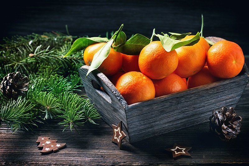 фото мандарины на новый год