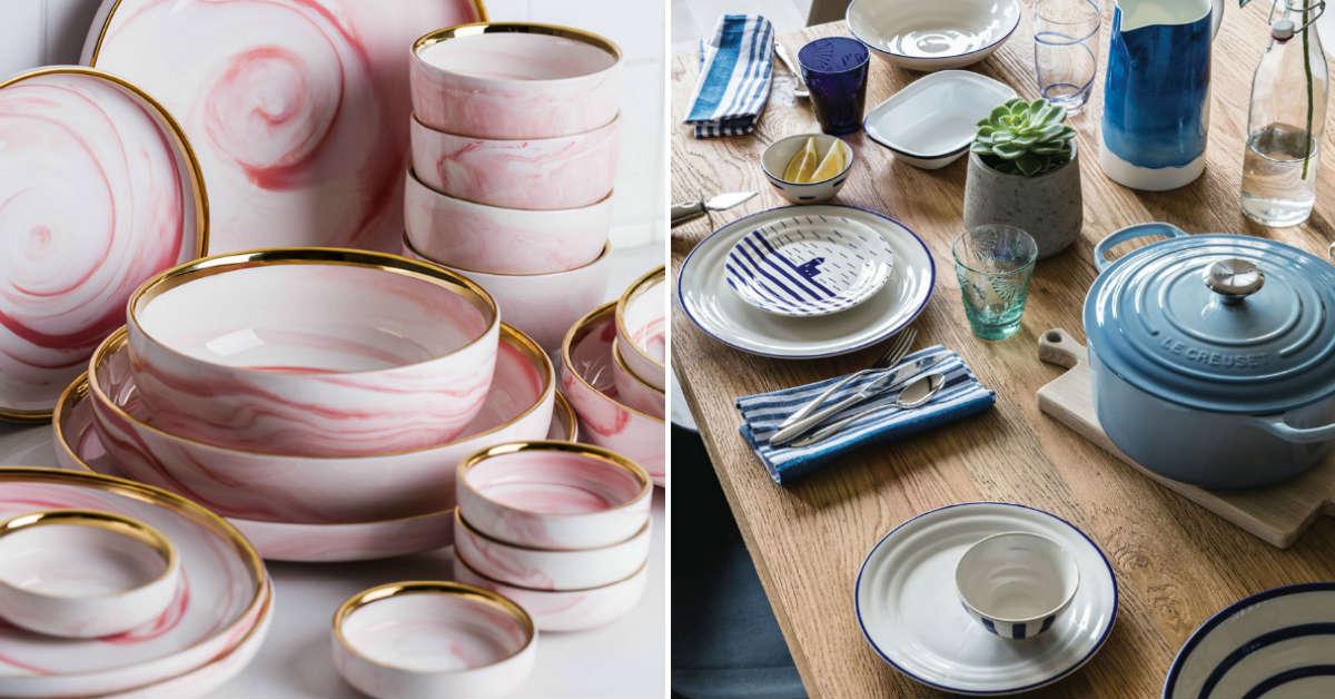 посуда в морском стиле