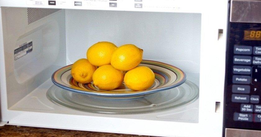 лимон в микроволновке