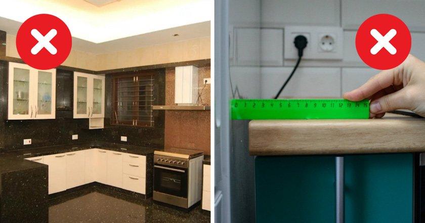ошибки при выборе кухонного гарнитура