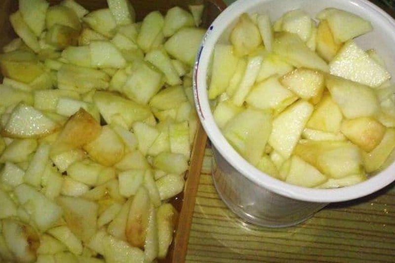 заморозка яблок с сиропом