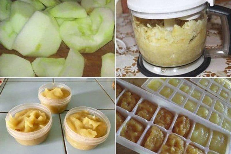как морозить яблоки