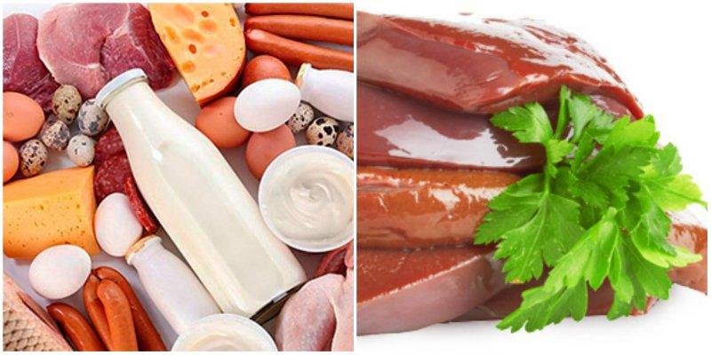 медь и железо в продуктах