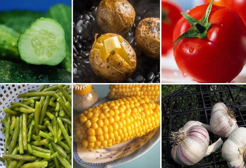 характер и овощи