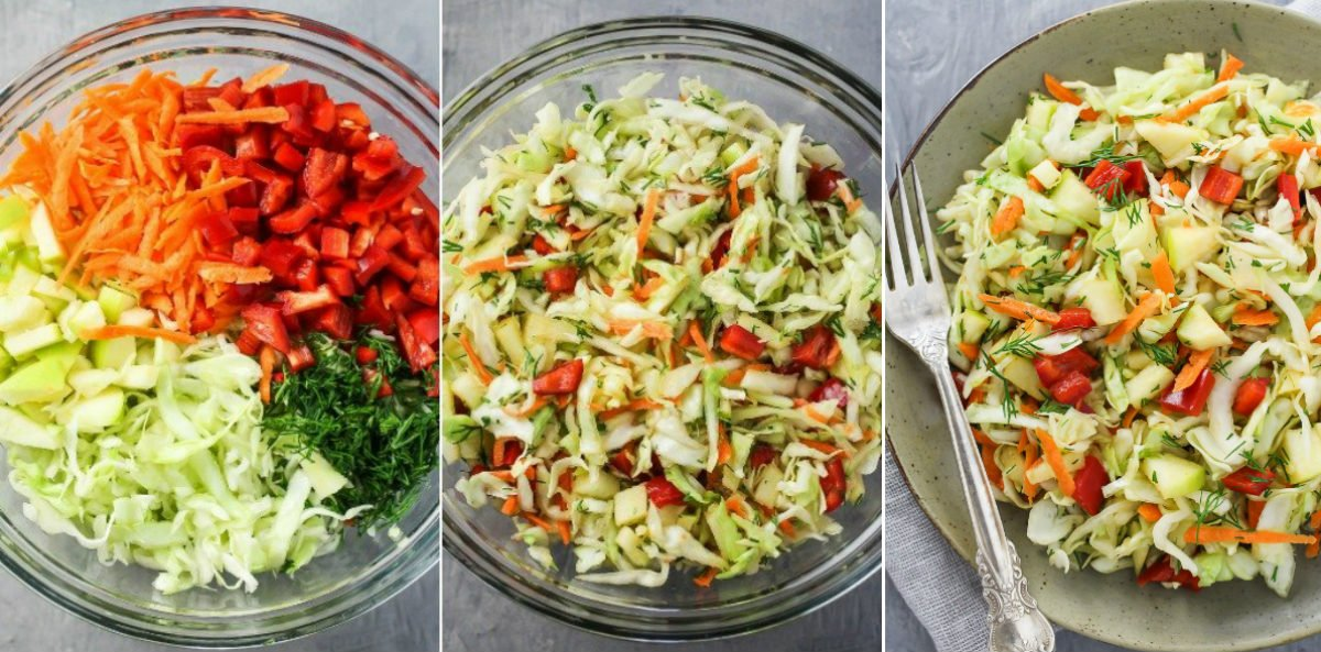 салат з молодою капустою