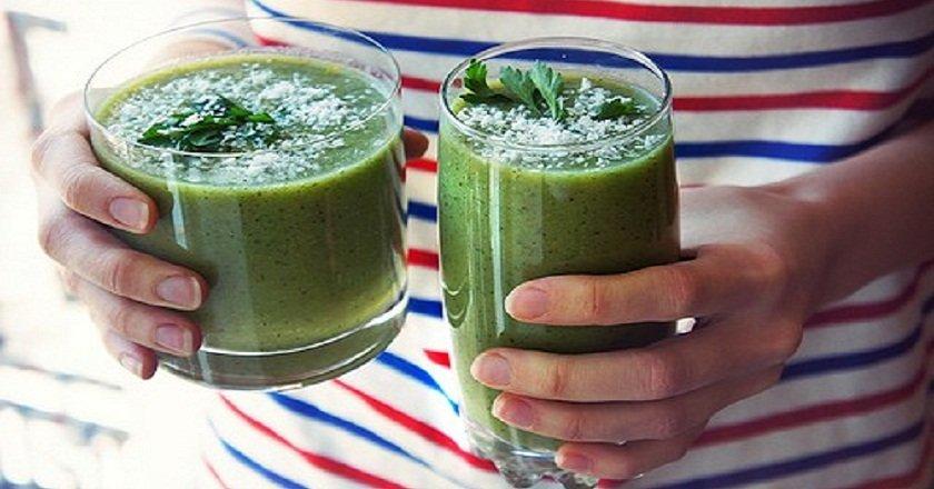 кефир с зеленью для похудения